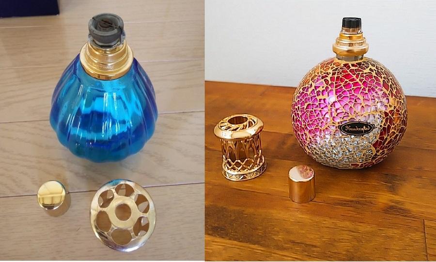 ランプベルジェのランプとアシュレイ&バーウッドのランプの写真