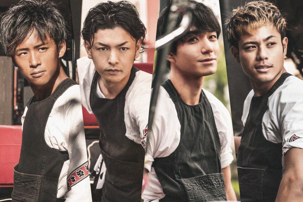 東京力車のメンバー4人の写真