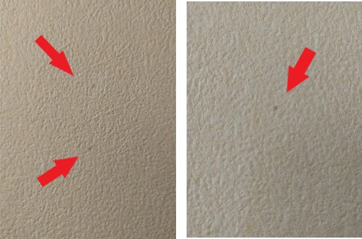 壁についたヘアカラーのシミの画像