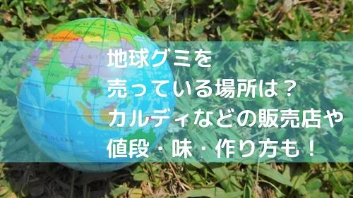 地球グミを売っている場所は?カルディなどの販売店や値段・味・作り方も!
