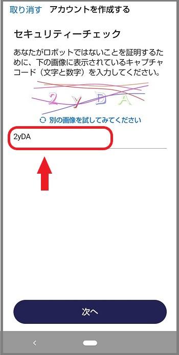 GETTRアプリで、キャプチャーコードの入力について説明した画像