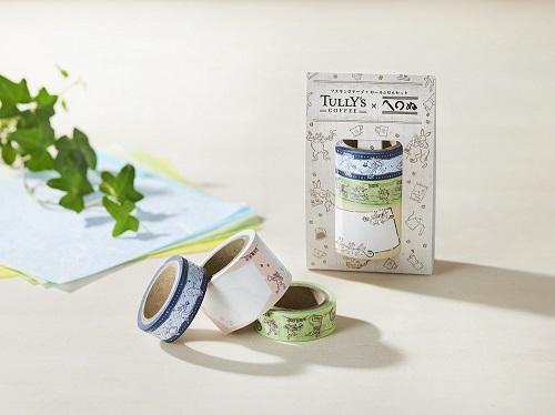 タリーズ 鳥獣戯画マスキングテープ+ロール付箋セットの商品画像