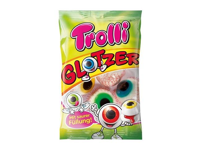 Trolli 目玉グミの商品画像 GLOTZERと表記されたパッケージ